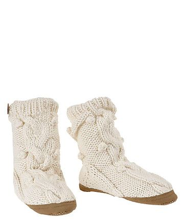 Knitted Slippers by Meru- The Origin of Nature
