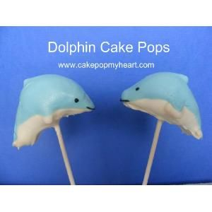 Dolphin cake pops...too cute...but not too cute to eat.