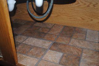 Peel & Stick Tile in Cabinets Under Sink