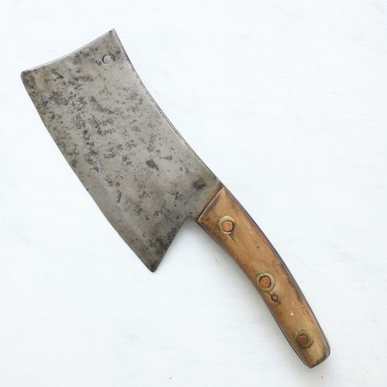 Vintage Butcher's Cleaver https://thecooksatelier.com/the-french-larder/vintage