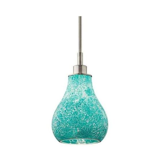 Kichler 65408 Crystal Ball Single-Bulb Indoor Pendant with Teardrop ($132) ❤ liked on Polyvore featuring home, lighting, ceiling lights, brushed nickel, indoor lighting, pendants, fluorescent lamp, ceiling mount lights, fluorescent lights and crystal ceiling lamp