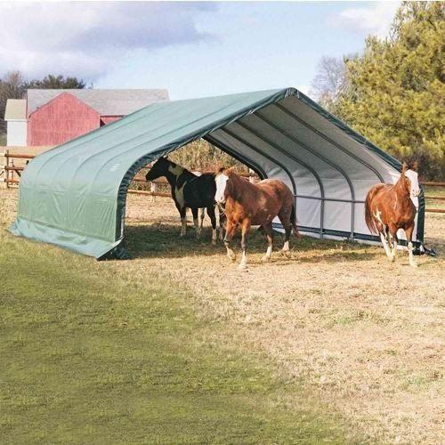 Metal Hay Covers : Shelterlogic  feet peak style run in hay