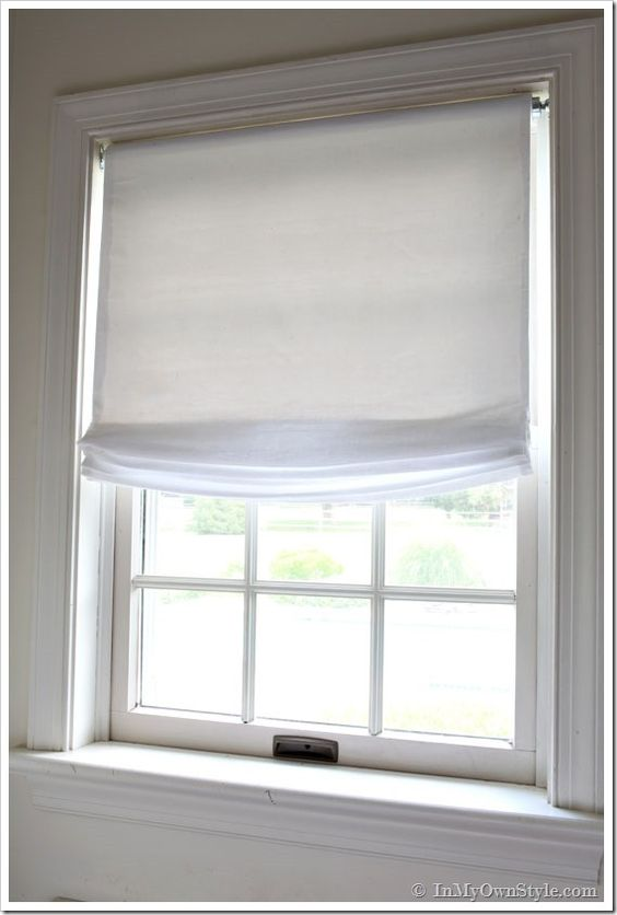 No Sew Window Treatment Relaxed Roman Shades Front