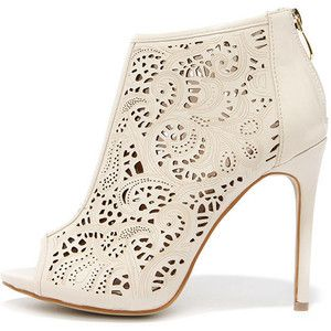 Filigree and Me Nude Laser-Cut Booties