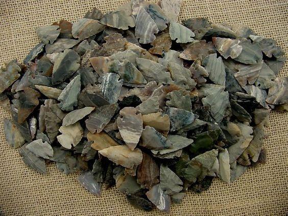 25 bulk arrowheads reproduction gray stripes by southernarrow