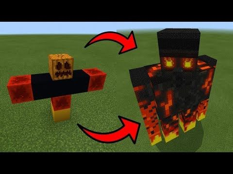 How To Spawn A Giant Magma Golem In Minecraft Pe Youtube