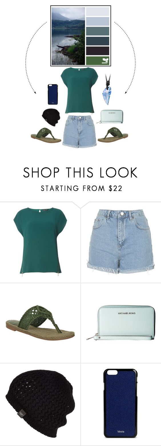 """""""Get Inspired: Lake"""" by sarelle-20 ❤ liked on Polyvore featuring Dorothy Perkins, Topshop, MICHAEL Michael Kors, UGG Australia, Valextra, inspiration, colorscheme and GetInspired"""