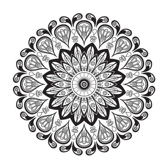 Mandalas Florales Para Imprimir Pdf Gratis Mandala Abstracto