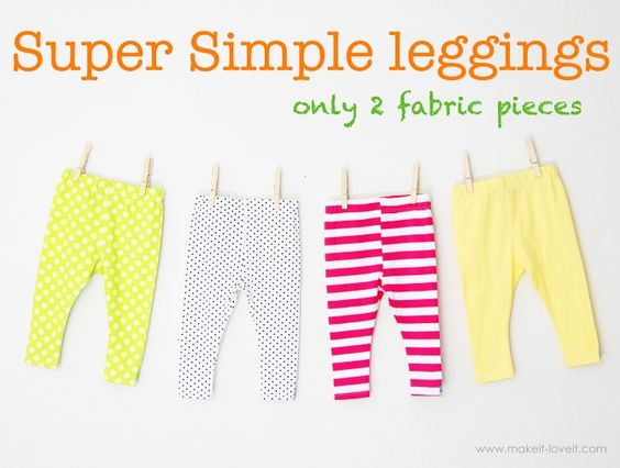 Super Simple Leggings: Sewing Projects, Legging Tutorial, Sewing Machine, Diy Baby Legging, Sewing Tutorials, Simple Legging, Sewing Kids