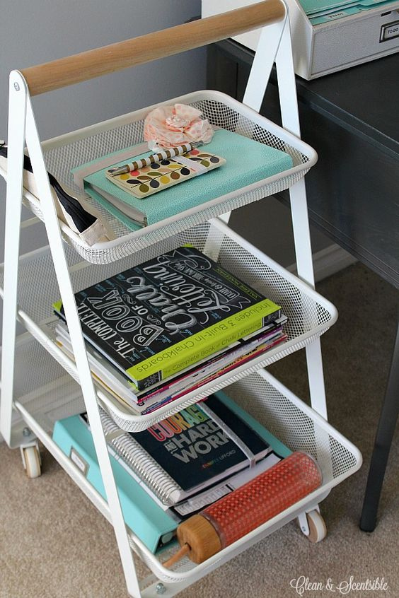 Small desks offices and i love on pinterest - How to keep your desk organized ...