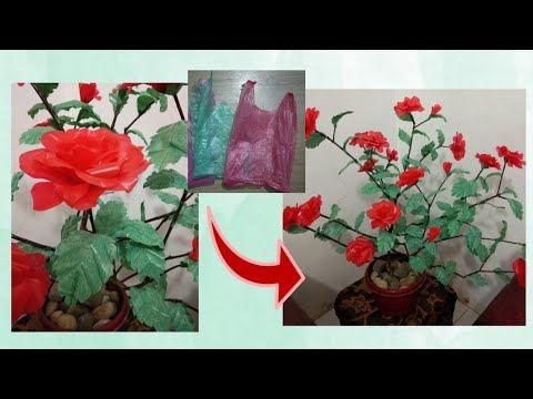 Diy Kerajinan Tangan Bunga Mawar Dari Plastik Kresek Dan Ranting