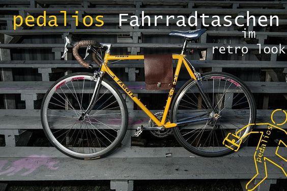Fahrradtasche klein handlich braun Leder verschiedene Farben