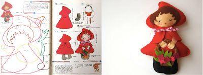 Maripê: Chapeuzinho Vermelho - moldes e ideias