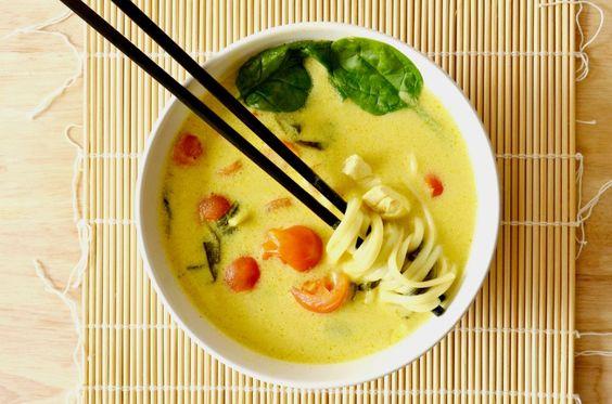 Khao Soy - Soupe Thaïlandaise (poulet, curry jaune et lait de coco) #lescookines