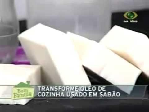 Como fazer sabão em barra caseiro - YouTube