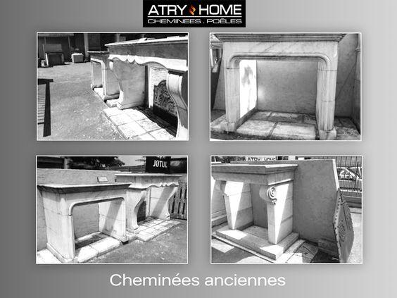 Cheminées anciennes en pierre ou marbre http://www.atryhome.com #cheminée #ancienne #pierre #marbre