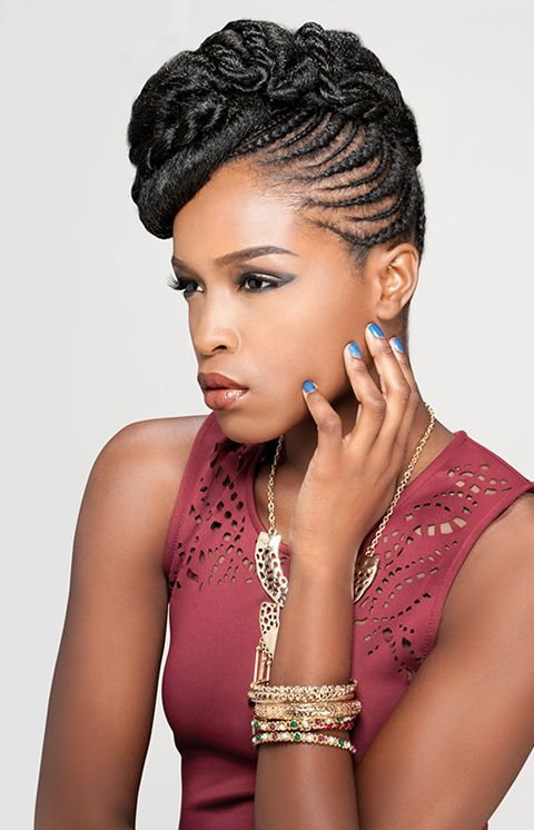 Swell Braided Hairstyles Braided Updo And Africans On Pinterest Short Hairstyles For Black Women Fulllsitofus
