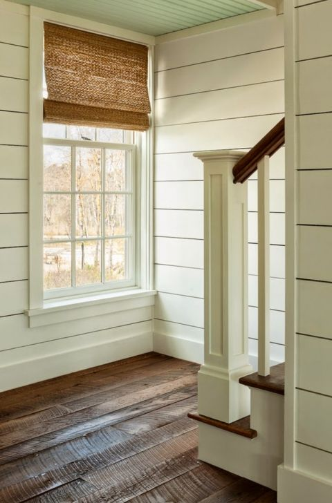 I didn't even know about shiplap until I began watching Fixer Upper. Joanna Gaines has shared her love with me. Look at this deliciousness in all its glory. So gorgeous!!: