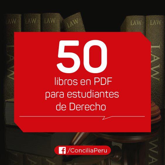 50 libros en PDF para estudiantes de Derecho - CENTRO DE FORMACIÓN PATRICIA RAMOS:
