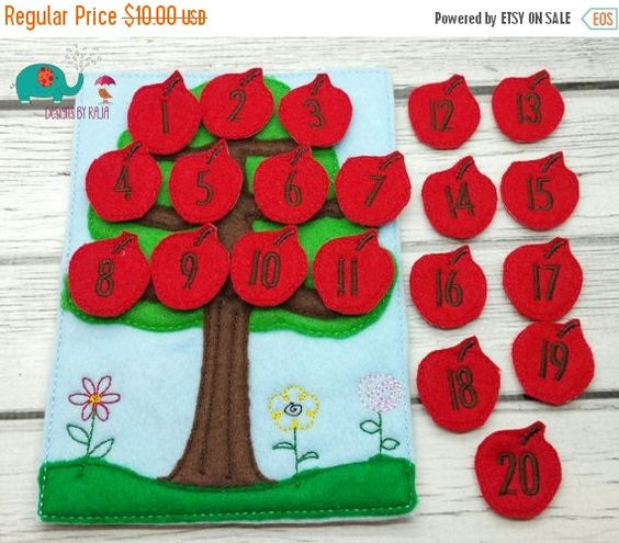 15% OFF Apple tree counting game embroidered by DesignsByRAJA