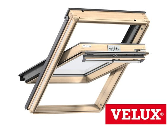 Velux Ggl 3050 Centre Pivot Roof Window Pine Pk08 94 X 140cm