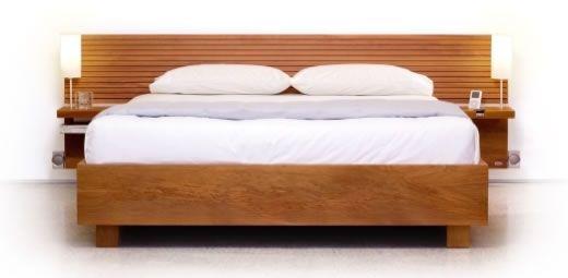 Respaldo para cama con dock para iPod