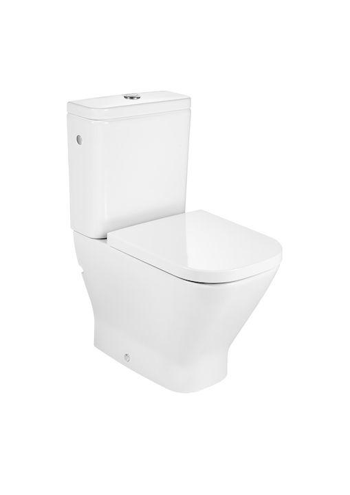 Inodoro Completo Compacto Adosado A Pared Con Salida Dual Incluye Taza Cisterna De Alimentación Lateral Y Tapa The Vaso Sanitário Caixa Acoplada Sanitario