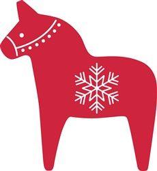 Dala Horse Print Art Horse Art Print Dala Horse Christmas Applique
