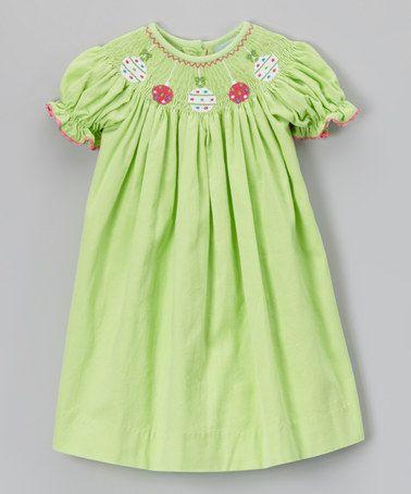 Love this Lime Ornament Bishop Dress - Girls on #zulily! #zulilyfinds