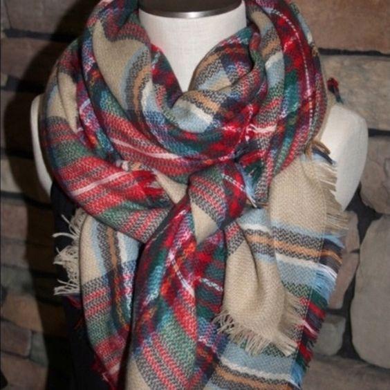 Plaid Tartan Blanket Scarf Brand new! Zara inspired. Accessories Scarves & Wraps
