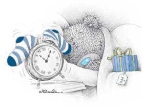 Tatty Teddy ourson réveil matin: