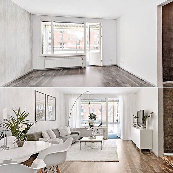 I love a good before and after home staging by @desint.nu: