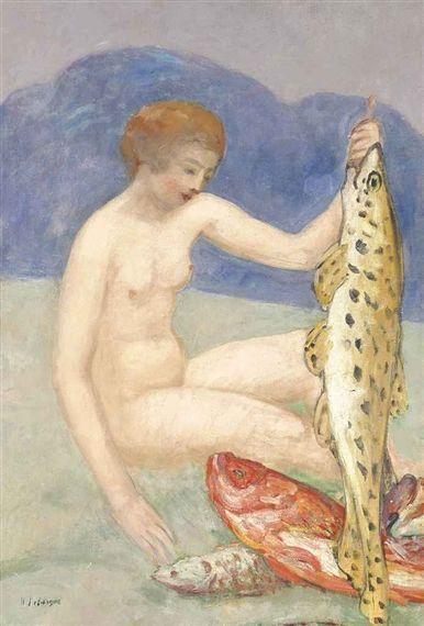 Henri Lebasque, Jeune fille aux poissons