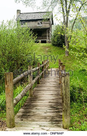 Gladie Cabin, Gladie Cultural-Environmental Learning Center & Historic Site, Red River Gorge, Kentucky, USA - Stock Image