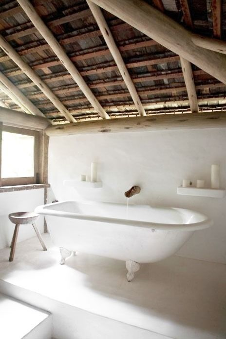 natural rustic and country chic bathroom