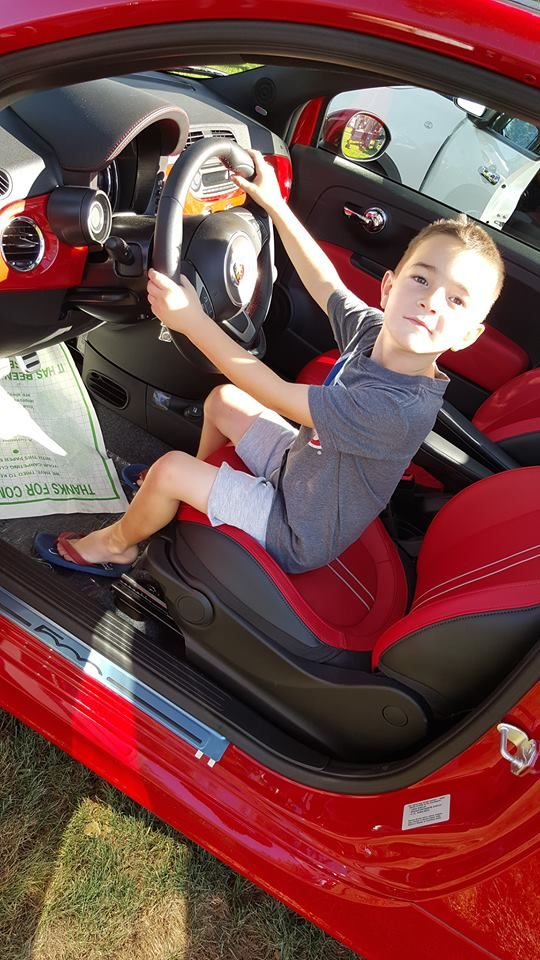 Getting ready for his first Findlay FIAT #Abarth at the Boulder City car show!