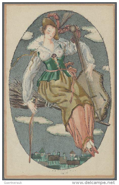 1000.Fritzi Löw - Wiener Werkstatte postcard