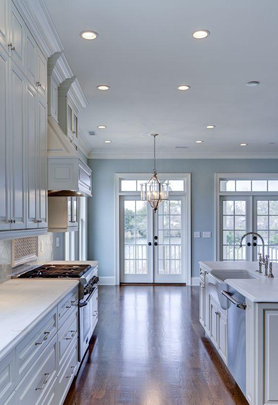 55 Popular Kitchen Paint Colors Page 30 Of 55 Veguci Farmhouse Kitchen Colors Popular Kitchen Colors Light Blue Kitchens