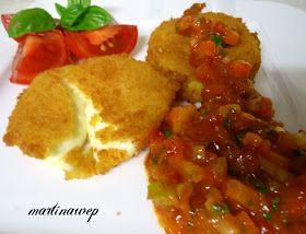 Martinas Kochküche: Mozarella allo Zaffarano mit Paprika - Tomaten -Salsa