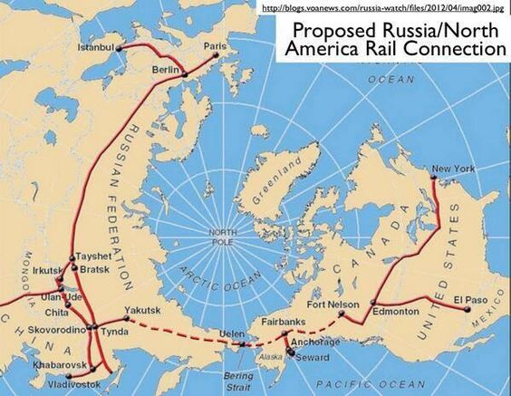 Russian-proposed railway from New York to Paris [600x465]