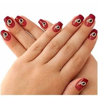 Nail art made easy with these #Redskins nail stickers!