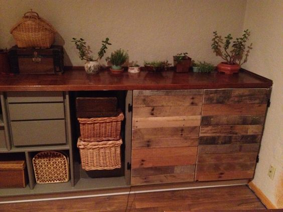 Pallet Wood Cabinet Doors Pallet Furniture Ideas Pinterest Wood Cabinets Pallet Wood And
