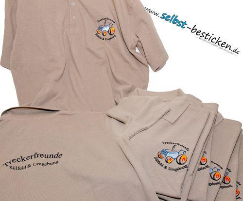Poloshirt besticken lassen  Treckerfreunde-Verein