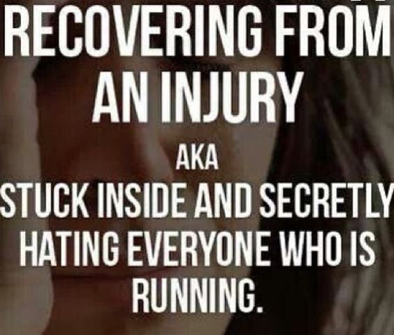 Recovering from a running injury is the ABSOLUTE WORST!: