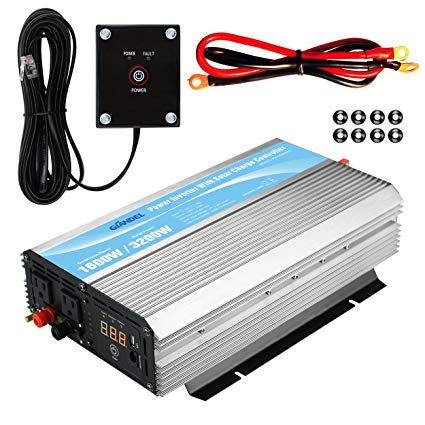 Giandel 1600w Power Inverter 12v Dc To 110v 120v Ac With 20a Solar Charge Controller And Remote Control And Dua Power Inverters Diy Solar Power Generator Power