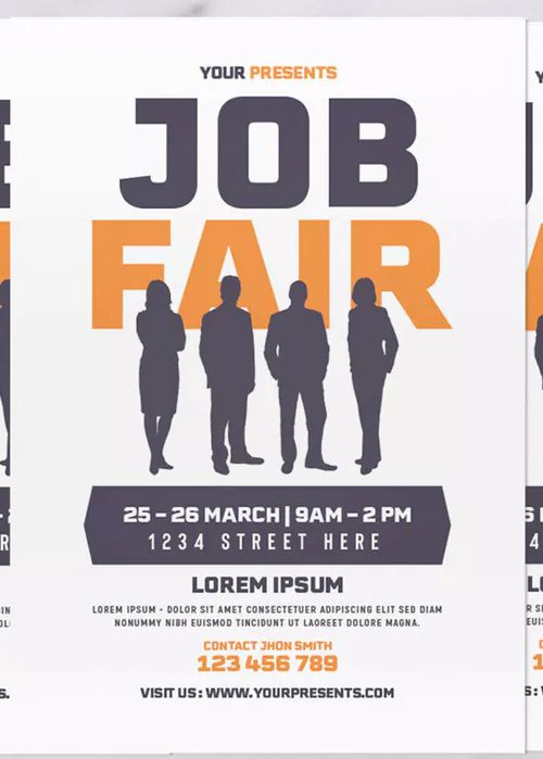 Job Fair Flyer Template Psd Ai Job Fair Flyer Template Flyer
