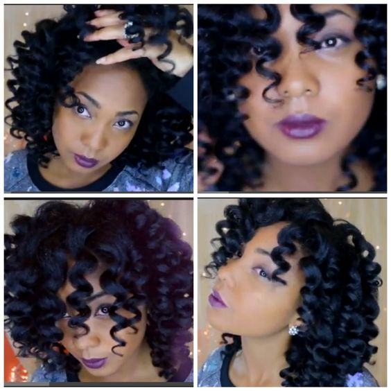 Shiny Bouncy Natural Hair Curls For The Holidays - Black Hair Information