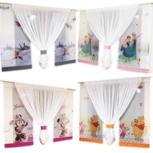 Firany Firanki Kpl Zefir Dzieci Zaslony Panele 7354568425 Oficjalne Archiwum Allegro Panel Curtains Curtains Decor