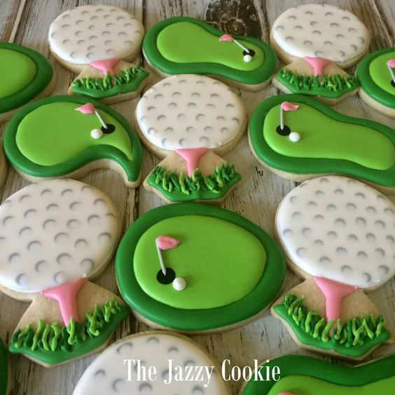 Golf cookies by The Jazzy Cookie