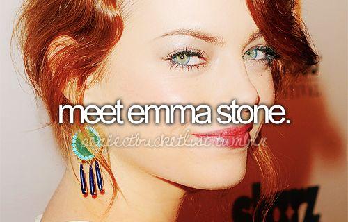 emma: Bucketlist Dreams, The Bucketlist, Amazing Actress, Emma Stone, Before I Die, Friend Bucketlist, Bucket Lists
